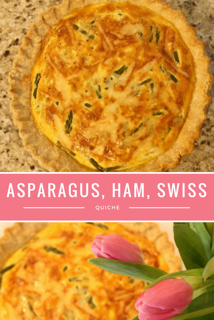 Asparagus Ham and Swiss Quiche Recipe - From the Family with Love