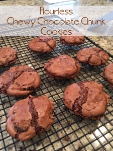 From the Family with Love Recipe Flourless Chewy Chocolate Chunk Cookies