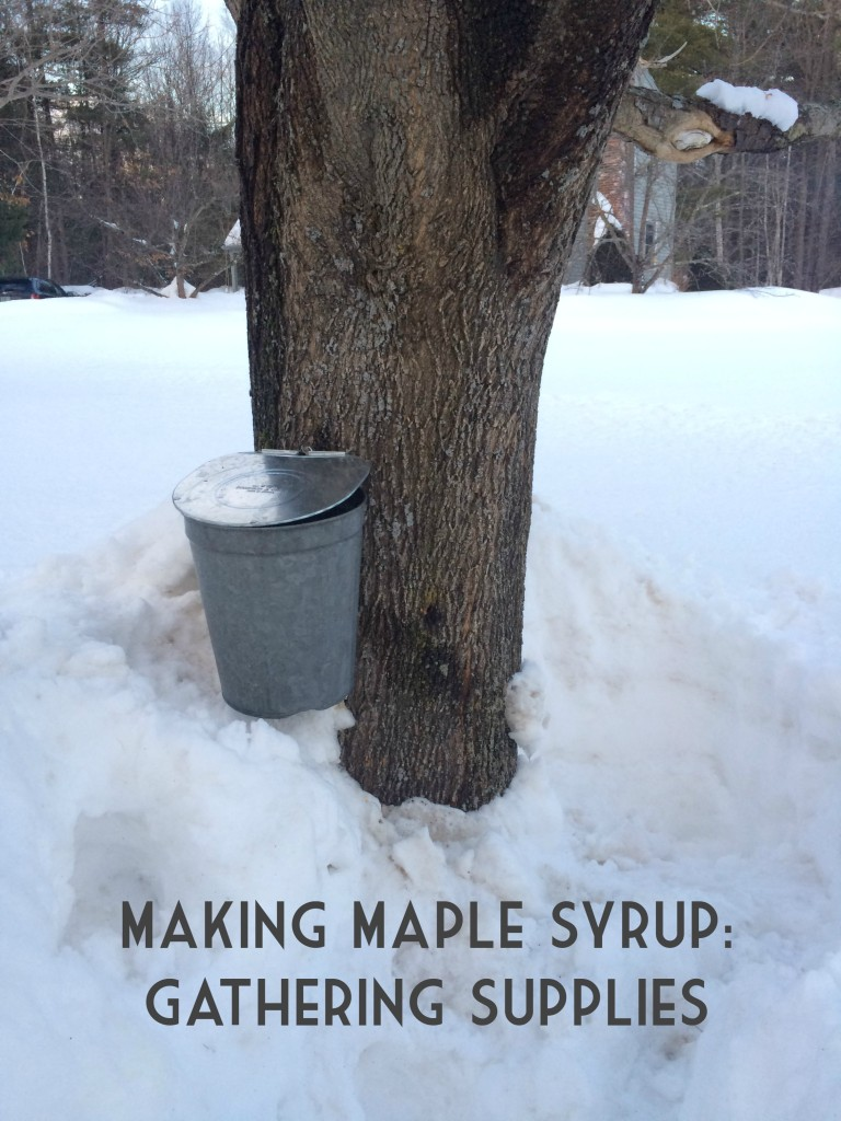 How to Make Maple Syrup Gather Maple Tapping Supplies From the Family With Love 1