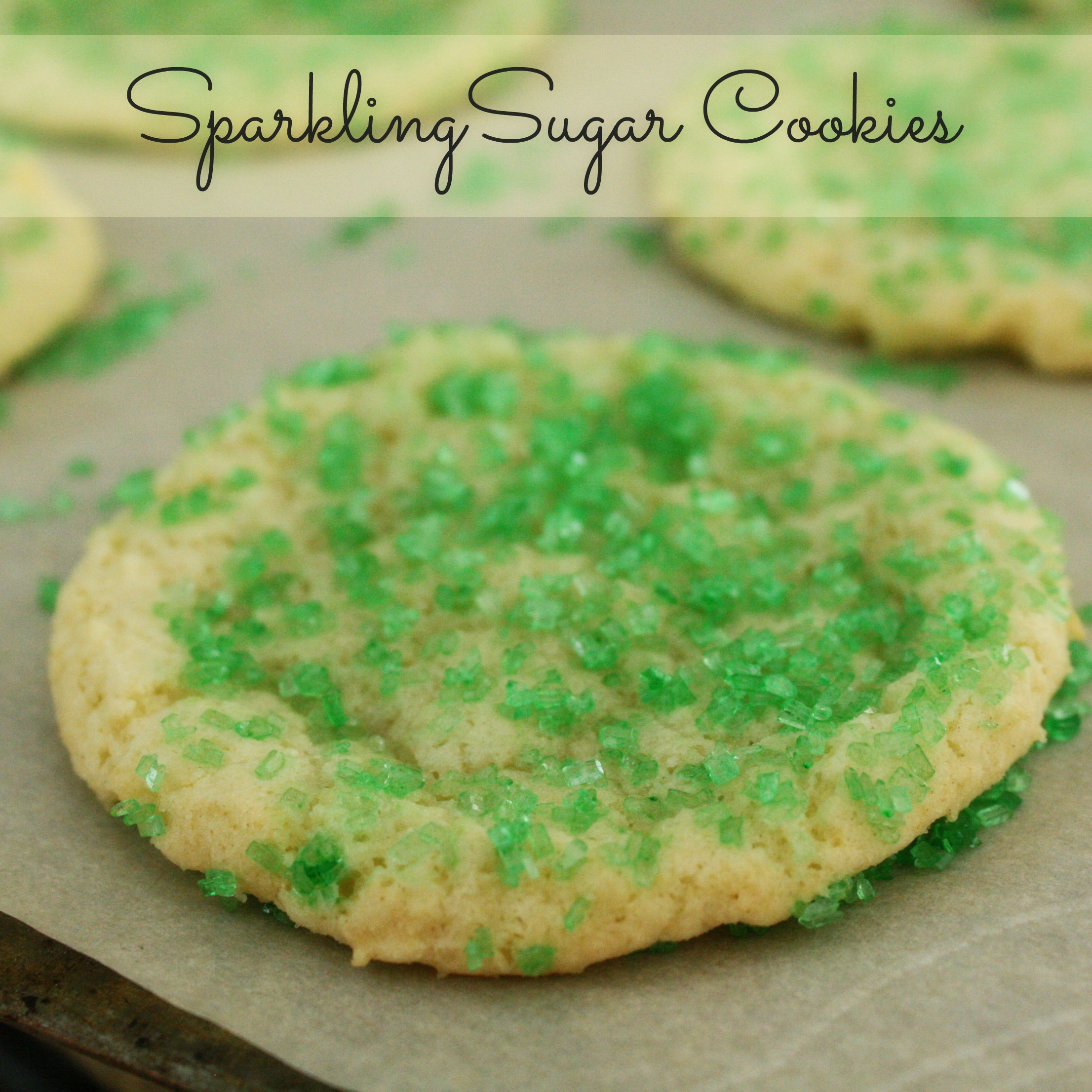 Sparkling chewy sugar cookies recipe From the Family With Love