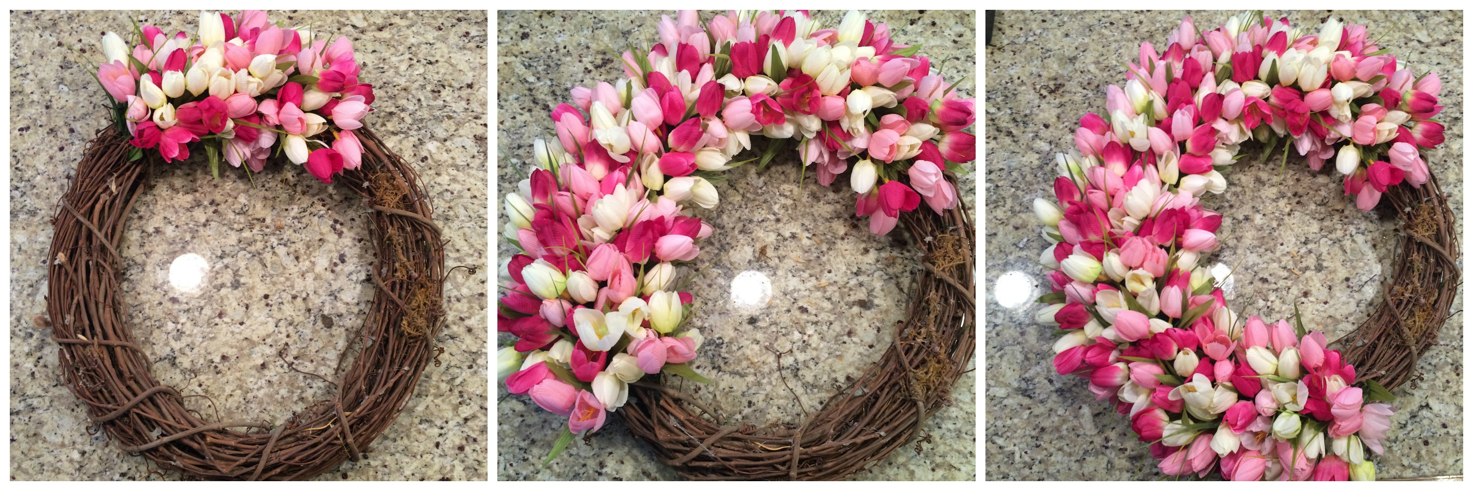 Pinterest Project Spring Tulip Wreath Diy From The