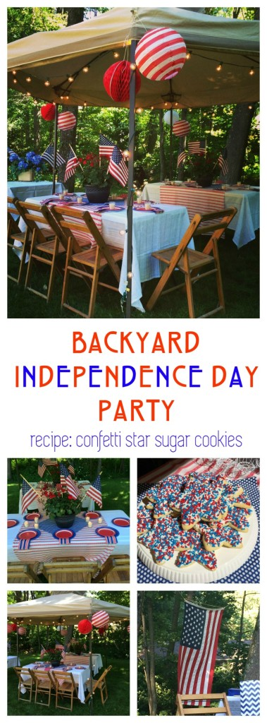 Back Yard Independence Day Fourth of July Party and Star Sugar Cookie Recipe From the Family WIth Love