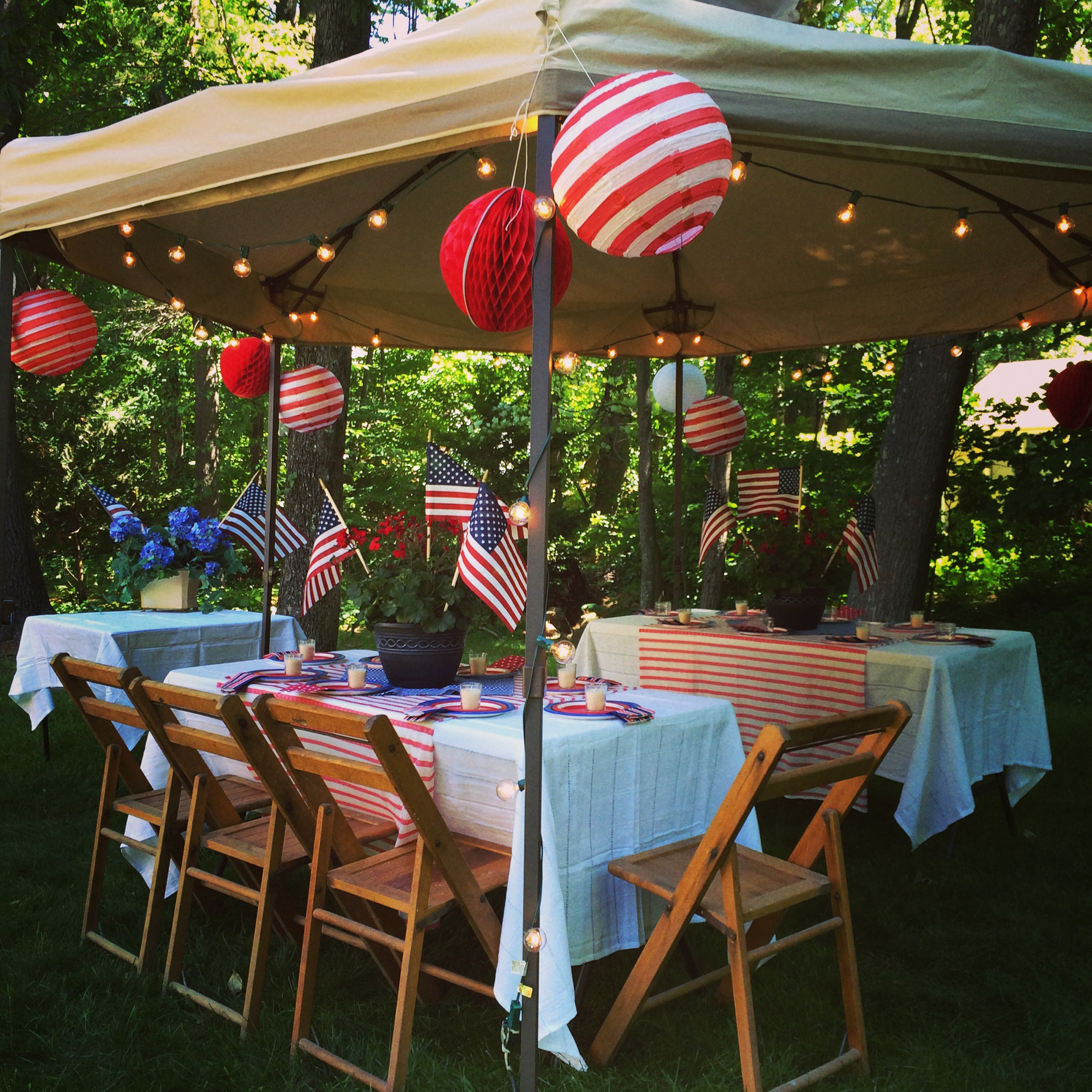 Ideas For Backyard Parties: Happy Independence Day! Backyard Party And Recipe