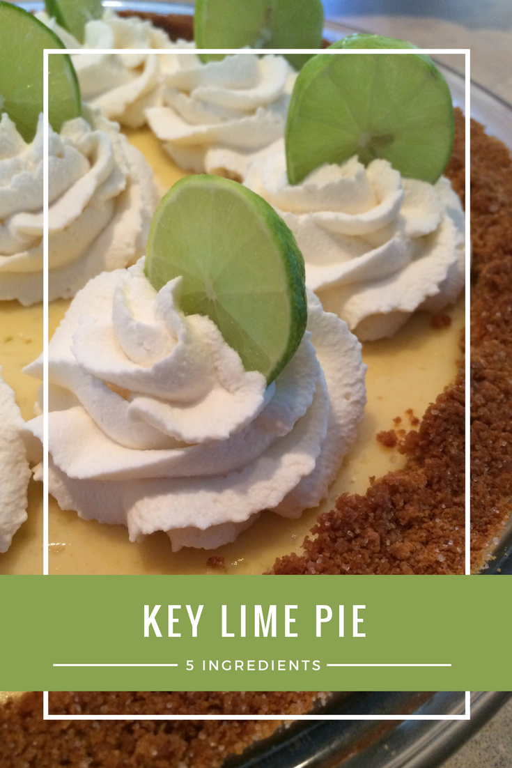5 Ingredient Key Lime Pie Recipe - From the Family with Love