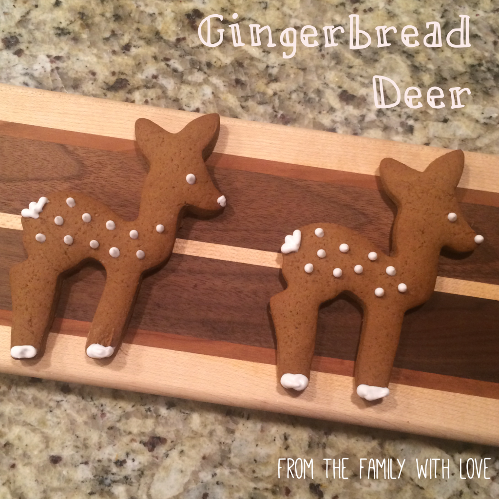 Gingerbread Deer Cookie Recipe From the Family with Love