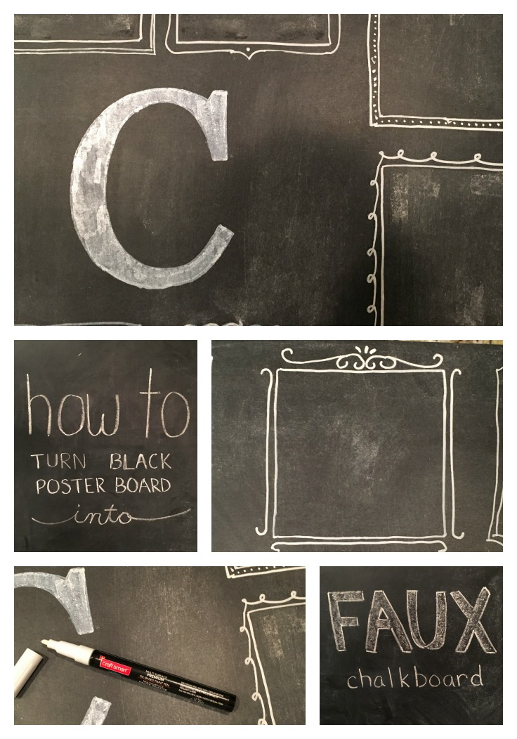 How To Turn Poster Board Into A Faux Chalkboard From The Family With Love Pinterest