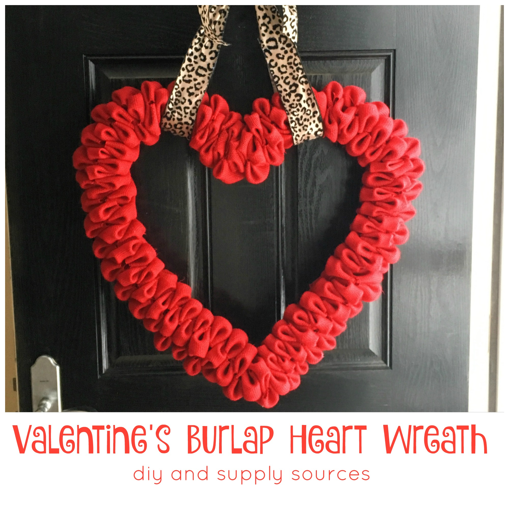 Pinterest Project Valentine S Burlap Heart Wreath Diy From The