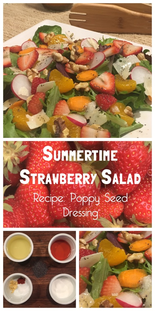 Summertime Strawberry Salad with Poppy Seed Dressing Recipe From the Family With Love Pinterest