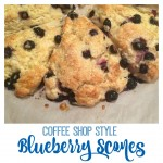 Blueberry Scones Coffee Shop Style Recipe From the Family With Love