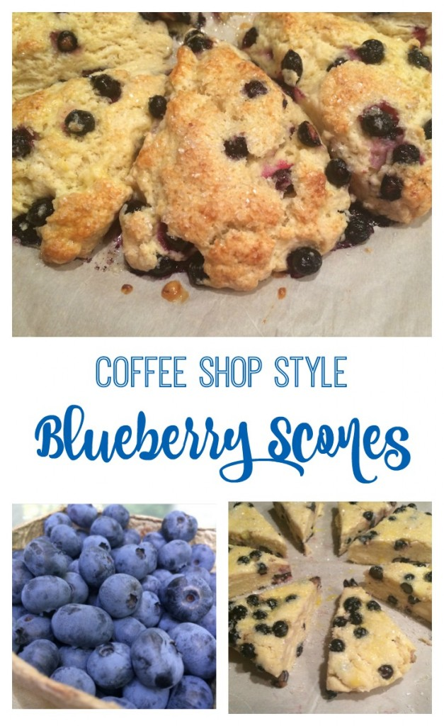 Coffee Shop Style Blueberry Scones recipe From the Family With Love