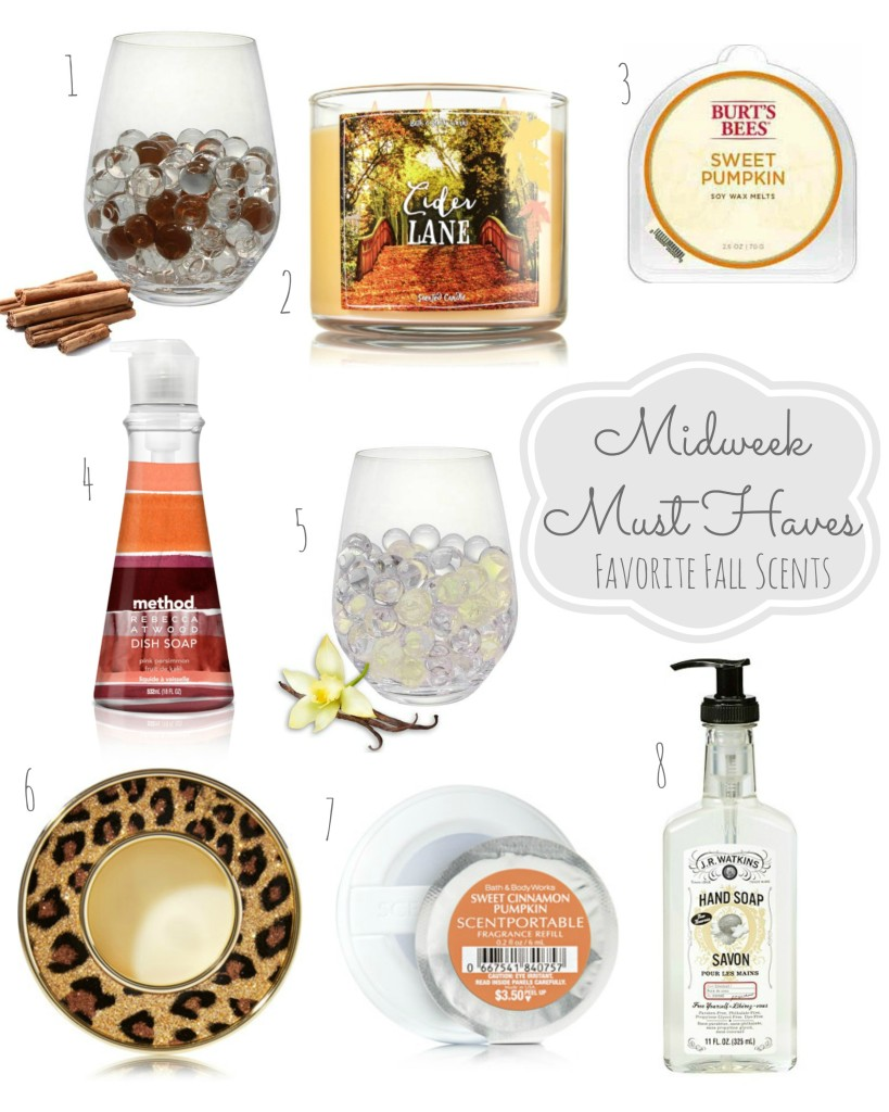 Midweek Must Haves Fall Scents From the Family With Love Gift Guide {Pumpkin, Apple Cider, Vanilla}