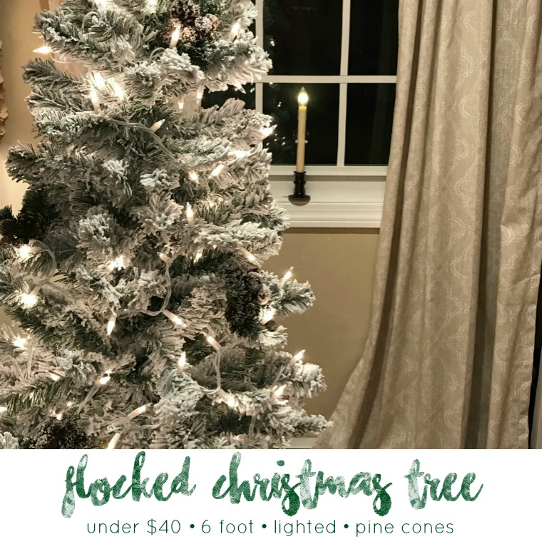 White Christmas: Create a 6' Flocked Christmas Tree for under $40 ...