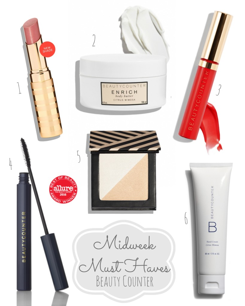 Midweek Must Haves Beauty Counter Lipgloss Lipstick Body Butter Mascara Makeup Gift Guide From the Family With Love main 1