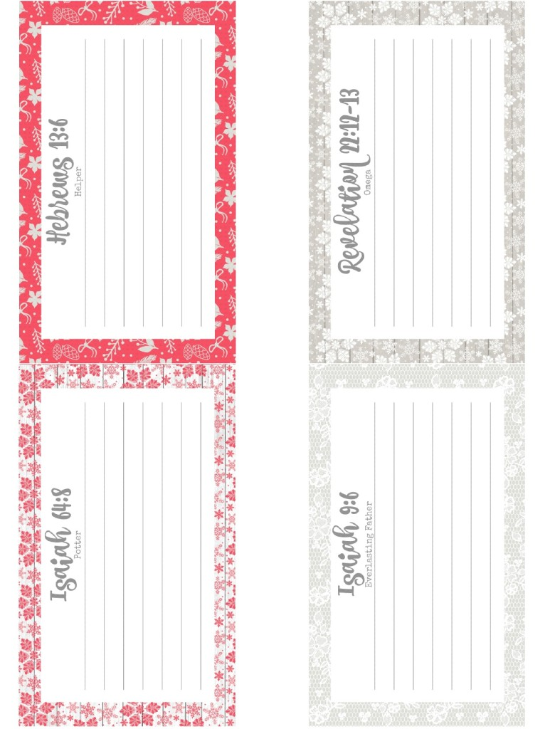 {Free Printable} Recipe for Life Verse Memorization Cards December 2016 HOPE From the Family With Love