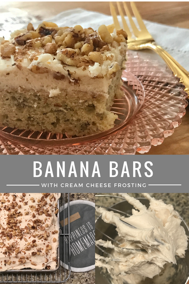 Banana Bars with Cream Cheese Frosting Recipe -From the Family with Love (1)