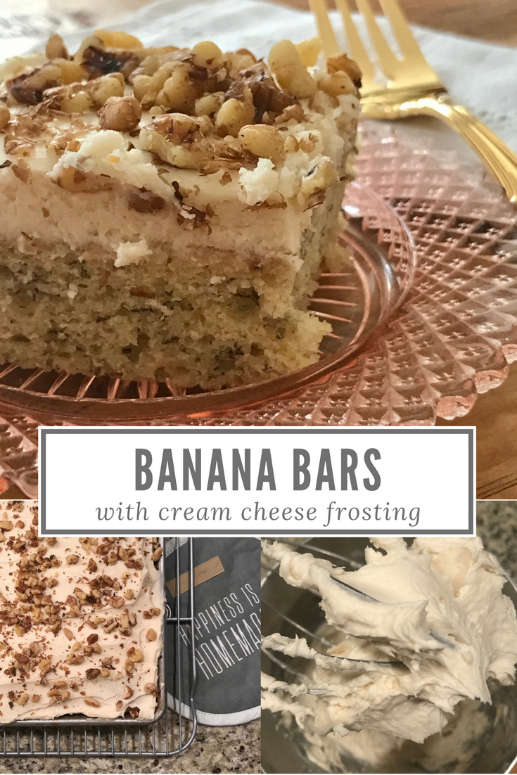 Banana Bars with Cream Cheese Frosting Recipe -From the Family with Love