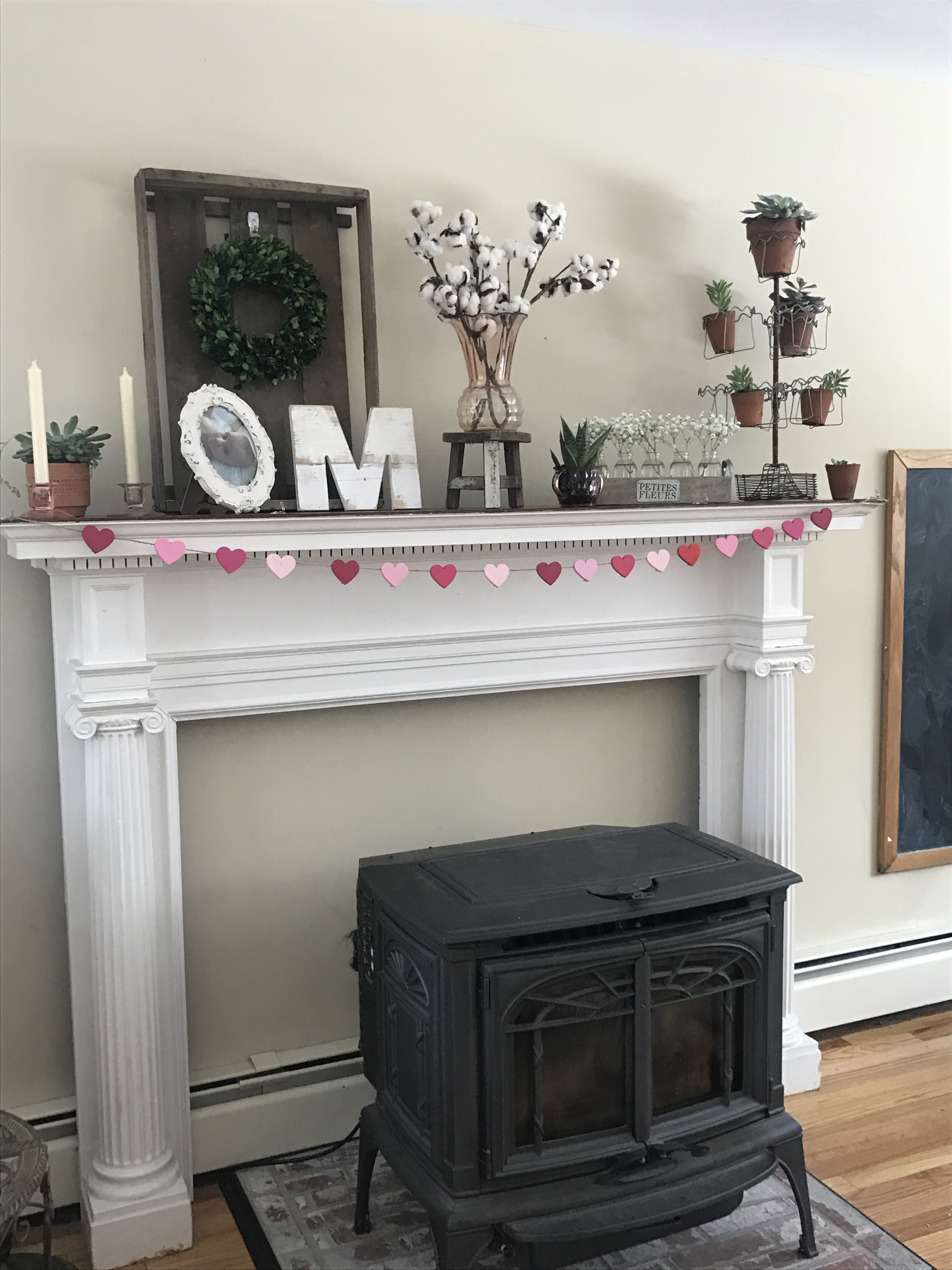 Winter To Spring Mantel Farmhouse And Succulents From