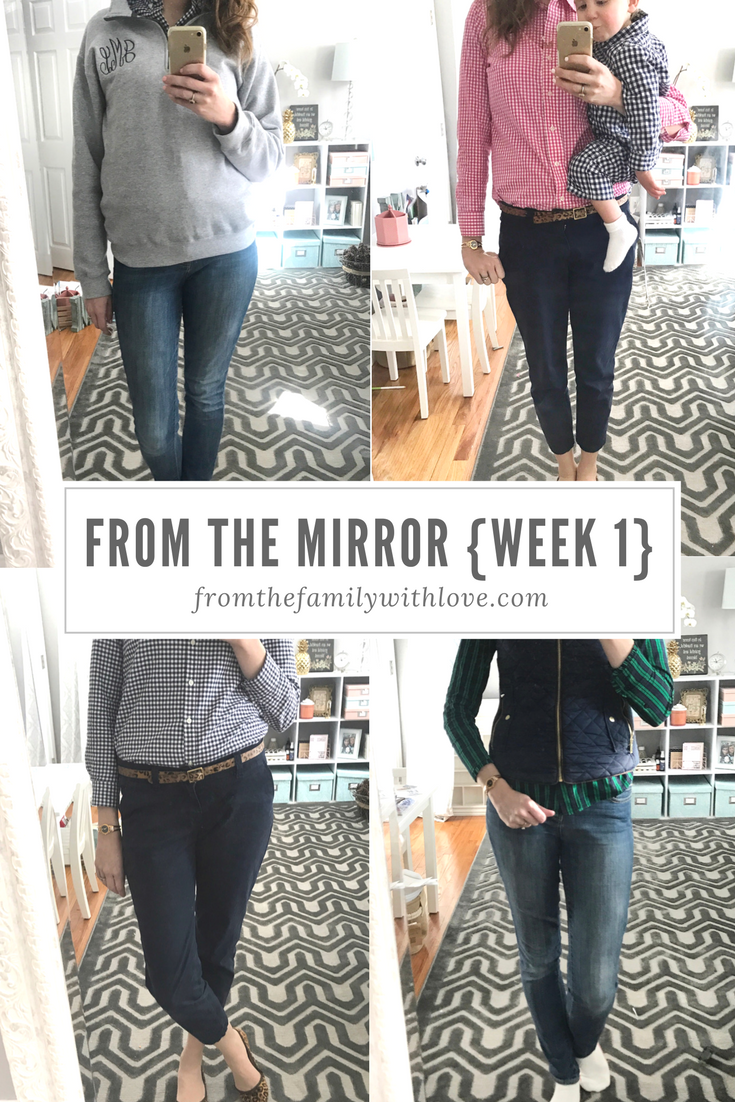 From the Mirror - a weeks worth of daily preppy, mom, spring, fashion ideas - From the Family with Love (1)