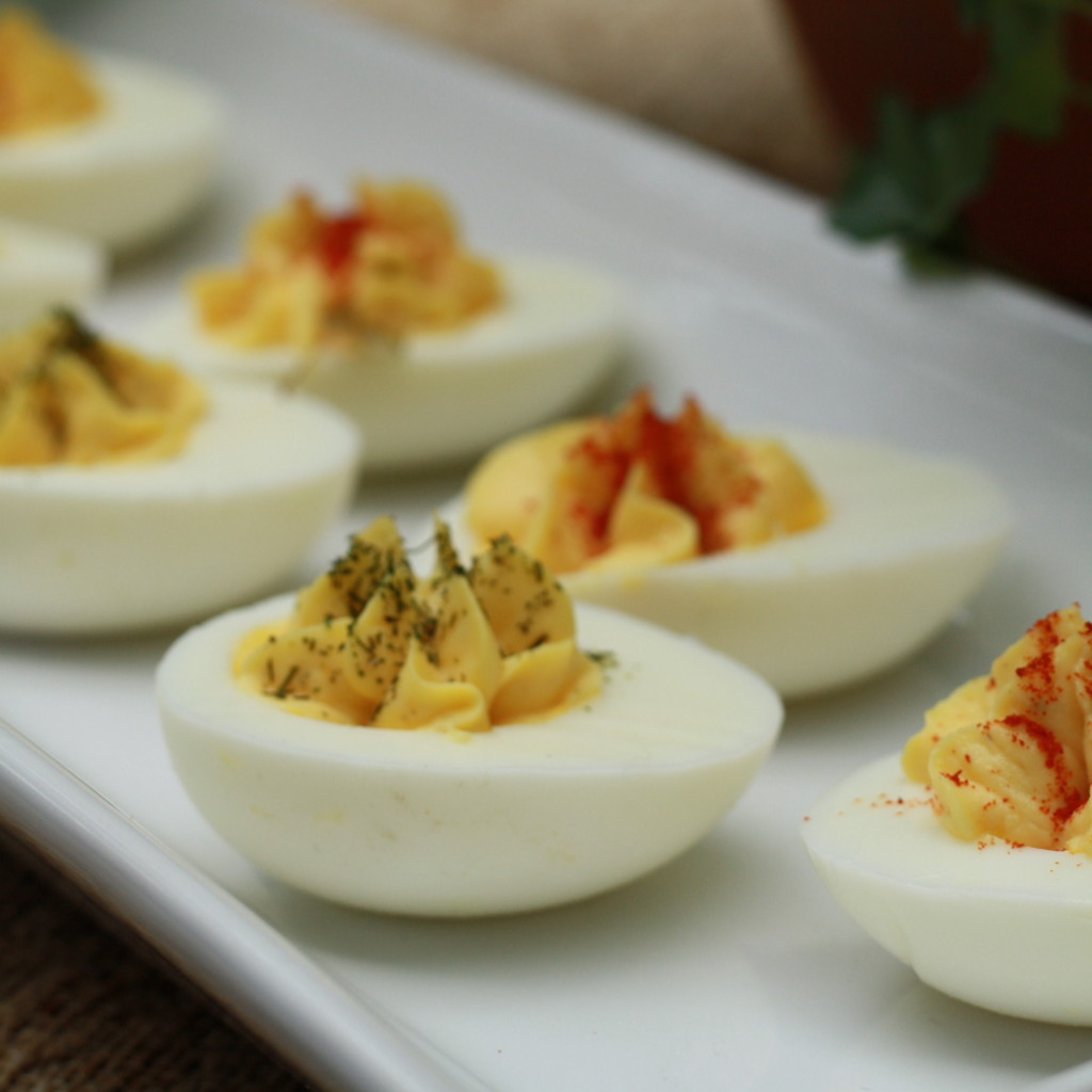 Creamy Deviled Eggs with a Colman's Kick Recipe - From the Family With Love