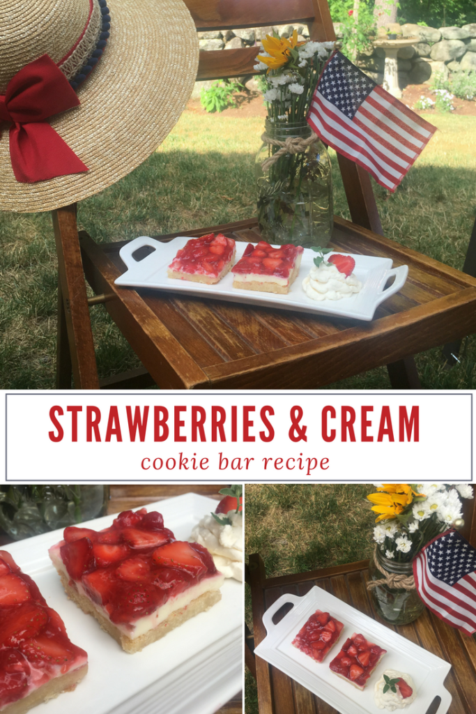 Strawberries and Cream Cookie Bar Recipe - From the Family With Love-3