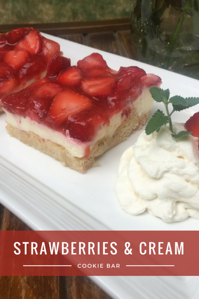 Strawberries and Cream Cookie Bar Recipe - From the Family With Love