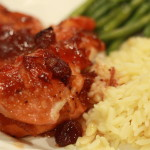 Cranberry Baked Chicken - easy weeknight meal recipe with Hannaford - 5 ingredients or less - From the Family With Love