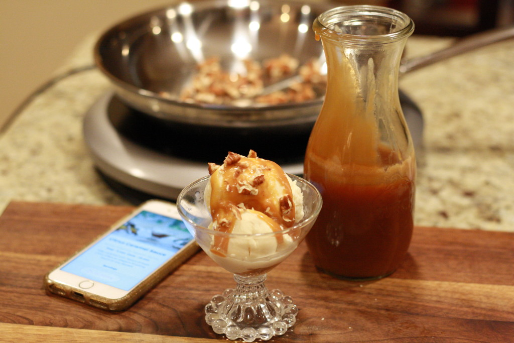 In the kitchen with Hestan Cue - Recipe Apple Turnovers - caramel sauce - From the Family with Love