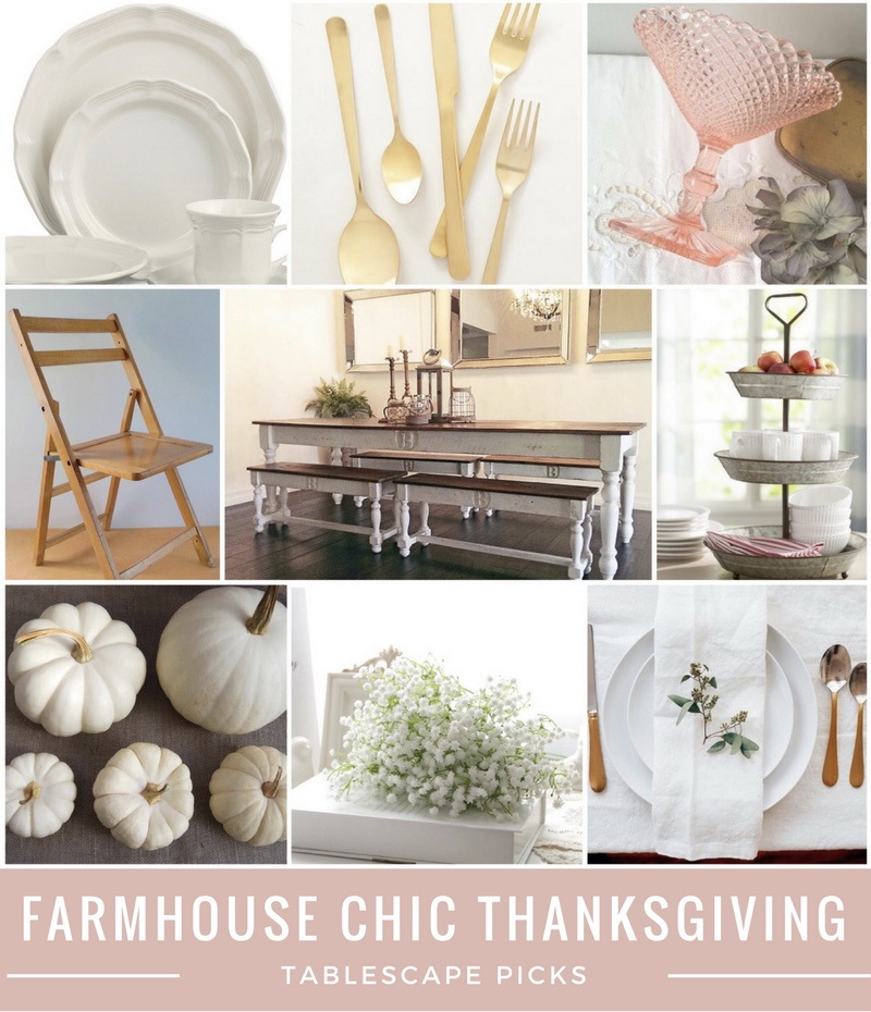 Midweek Must Haves - Farmhouse Chic Thanksgiving tables cape picks - From the Family With Love