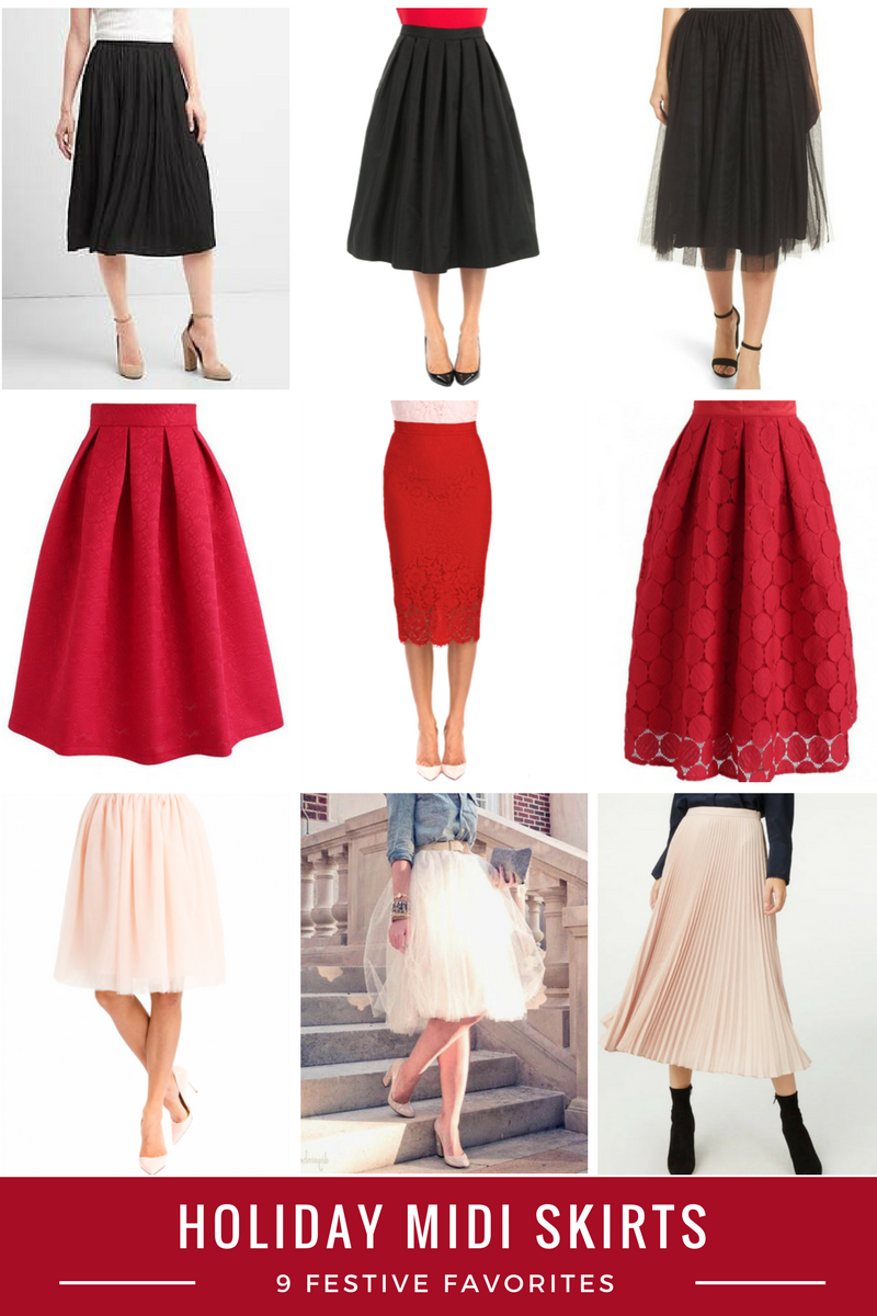 From the Closet #18: Holiday Midi Skirts {2 ways}