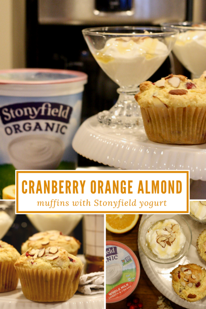 In the Kitchen with Stonyfield_ Cranberry Orange Almond Muffins - recipe - From the Family With Love-3