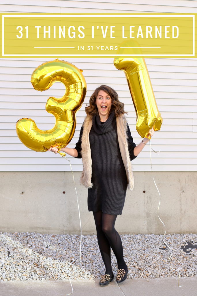 Happy Birthday to me - 31 things in 31 years - From the Family With Love - birthday gold number balloons-2