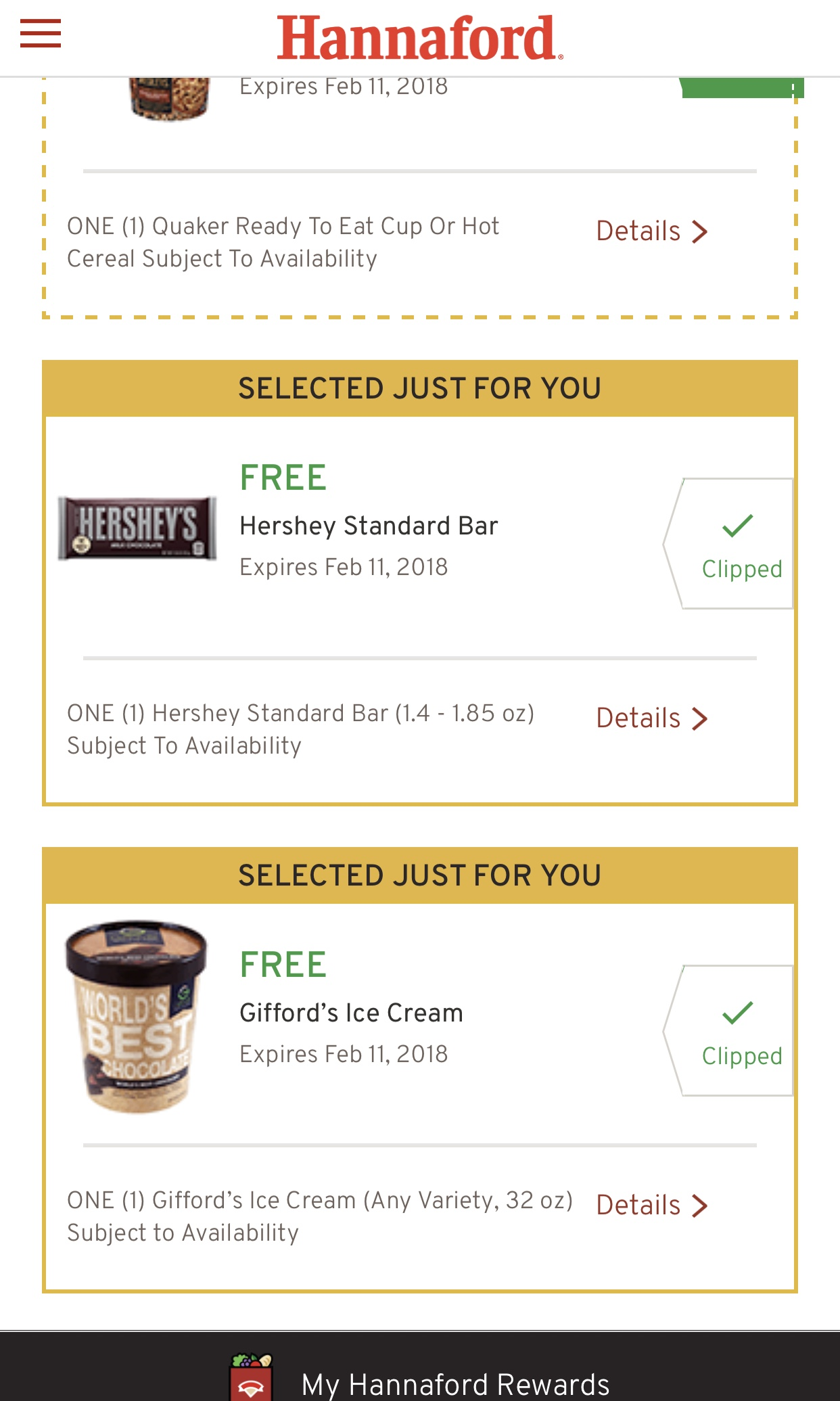 Refresh coupons
