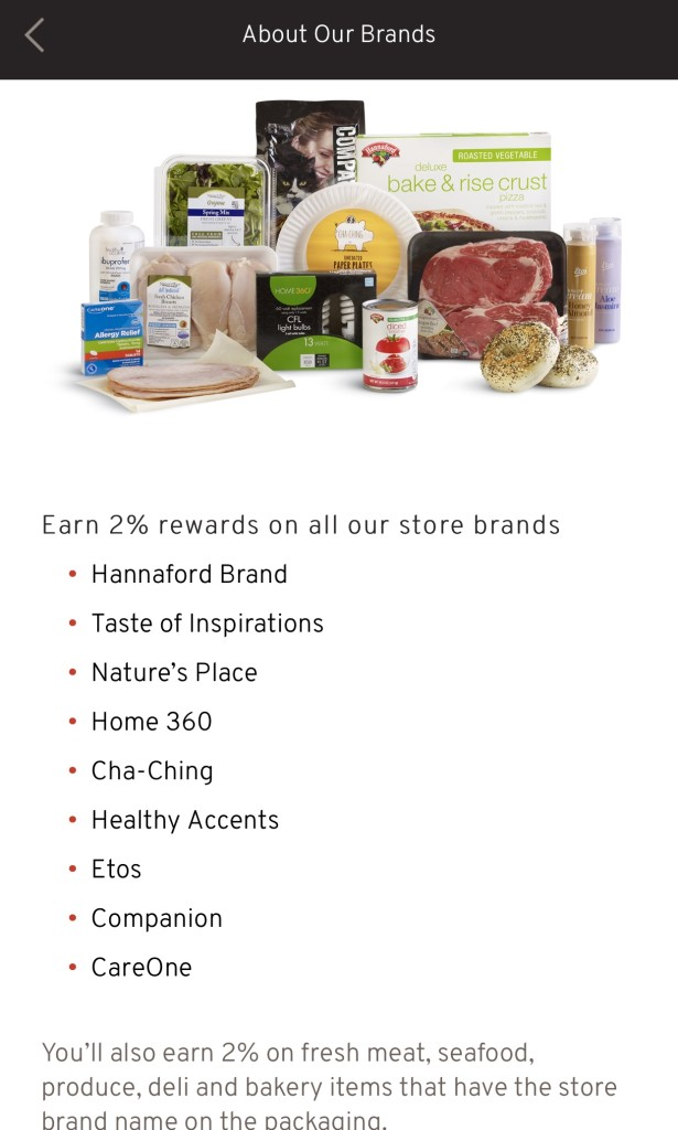Lunchbox Refresh with My Hannaford Rewards - list of brands to earn 2% rewards - From the Family With Love
